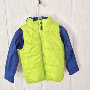 REEBOK NEON YELLOW QUILTED PUFFER JACKET 2T